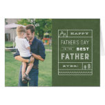The Best Father Photo Greeting Card - Army at Zazzle