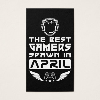 The Best Gamers Spawn in April Business Card