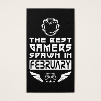 The Best Gamers Spawn in February Business Card