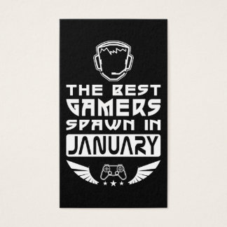 The Best Gamers Spawn in January Business Card
