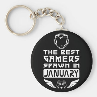 The Best Gamers Spawn in January Keychain