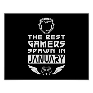 The Best Gamers Spawn in January Poster