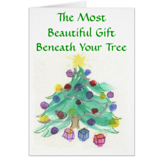 The Best Gift Christian Watercolor Christmas Card