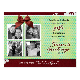 The Best Gifts Holiday Photo Card Post Cards