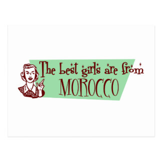 The Best Girls are from Morocco Postcard