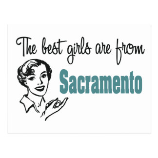 The Best Girls are from Sacramento Postcard