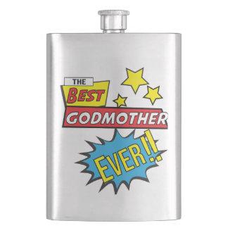 The best godmother ever pop art comic book flask