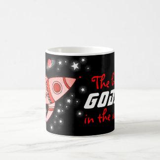 """""""The best GODSON in the universe"""" red black mug Basic White Mug"""