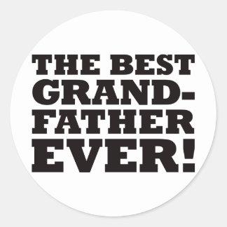 The Best Grandfather Ever Round Sticker