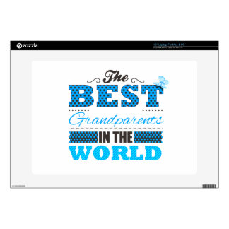 """The best grandparents in the world skin for 15"""" laptop"""