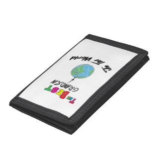 The Best grandson in the World, grandson Trifold Wallet