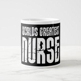 The Best Great Nurses : World's Greatest Nurse Jumbo Mug