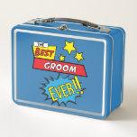 "The best groom ever pop art comic book metal lunch box<br><div class=""desc"">The best groom ever pop art comic book</div>"