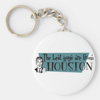 The best guys are from Houston Basic Round Button Keychain