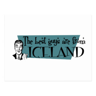 The Best Guys are from Iceland Postcard