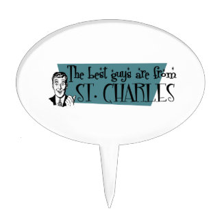 The best guys are from St. Charles Cake Topper