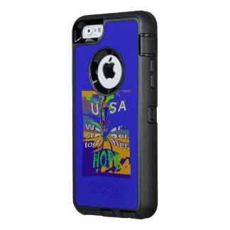 The best Hope for USA Stronger Together OtterBox Defender iPhone Case