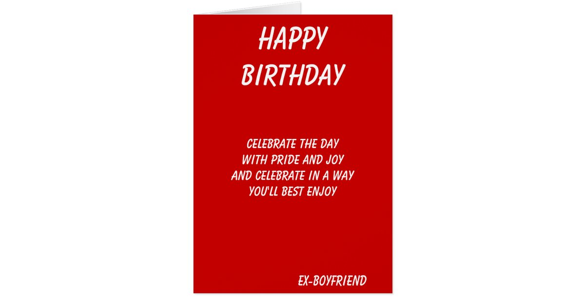The best in everything ex boyfriend birthday cards zazzle bookmarktalkfo Choice Image