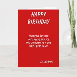 The Best In Everything Ex Husband Birthday Cards