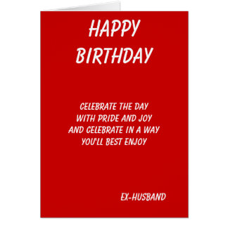 The best in everything-ex husband birthday cards