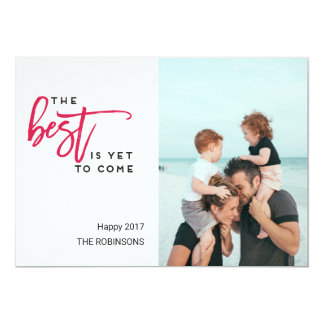 The Best is Yet to Come Modern Photo Christmas Card