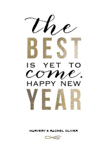 the best is yet to come new year card faux foil