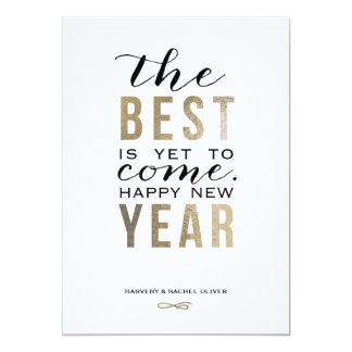 The Best is Yet to Come New Year Card - Faux Foil