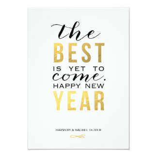 The Best is Yet to Come | New Year Photo Card Personalized Invitation