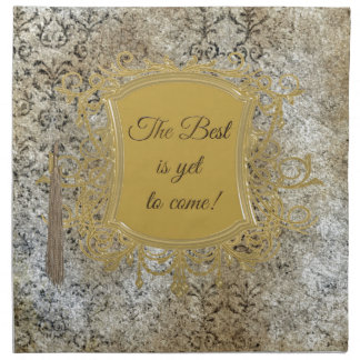 The Best is Yet to Come, Tassel on Frame Napkin