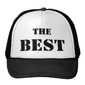 "THE BEST. La gorra del mejor ""El mejor"", en negro"