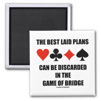 The Best Laid Plans Can Be Discarded In Bridge 2 Inch Square Magnet