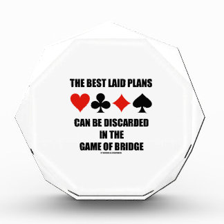 The Best Laid Plans Can Be Discarded In Bridge Acrylic Award
