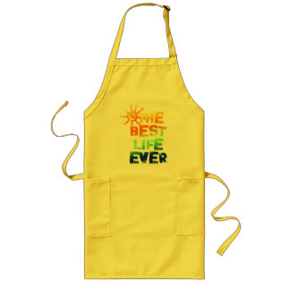 THE BEST LIFE EVER LONG APRON