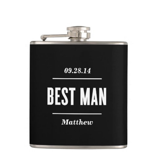 The Best Man | Wedding Flask