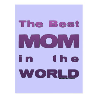 The Best Mom in the World Postcard