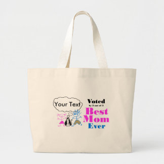 The Best Mom Large Tote Bag