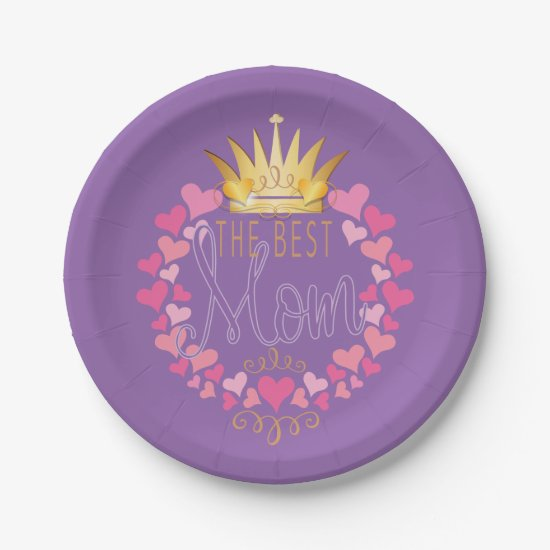 The Best Mom Paper Plate