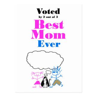 The Best Mom Postcard