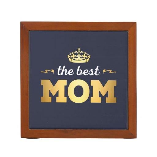 The Best Mom with crown Desk Organizer
