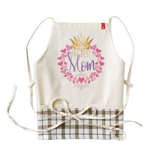 The Best Mom Zazzle HEART Apron