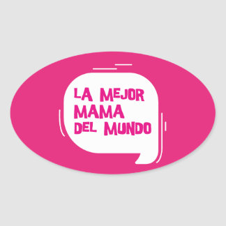 The best mother of the world oval sticker
