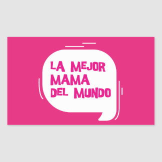The best mother of the world rectangular sticker