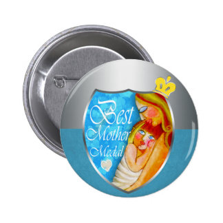 The Best Mother trophy Pinback Button