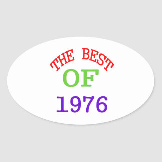 The Best OF 1976 Oval Sticker
