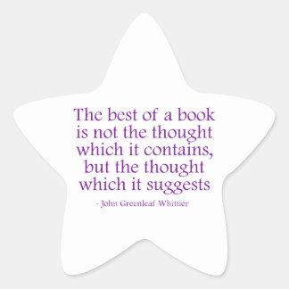 The Best of a Book Star Sticker