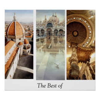 The Best Of Italy Watercolor Art Poster