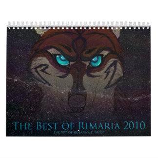 The Best of Rimaria 2010 Calendar