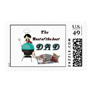 The Best of the best DAD Postage Stamp
