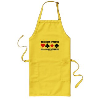 The Best Offense Is A Good Defense (Card Suits) Aprons