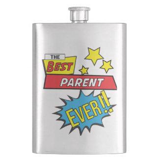 The best parent ever pop art comic book flask